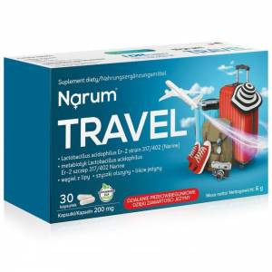 Narum Travel 200mg, 30 kaps - Idealny w podróży