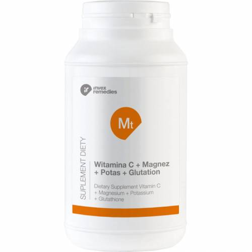 Suplement diety Mt Witamina C+ Magnez+ Potas+ Glutation 450g